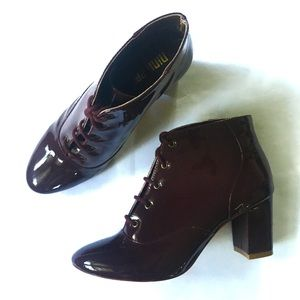 Nina Payne Anthropologie Patent Leather Booties 39